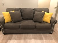 Grey couch less than 2 years old. Lightly used and in perfect condition. Kept in a smoke free home and cleaned regularly. PILLOWS INCLUDED! Los Angeles, 91356