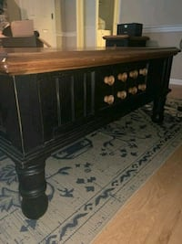 Coffee table with built in storage