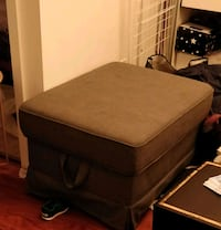 Large grey storage ottoman YES IT IS AVAILABLE Toronto, M6J 1M3