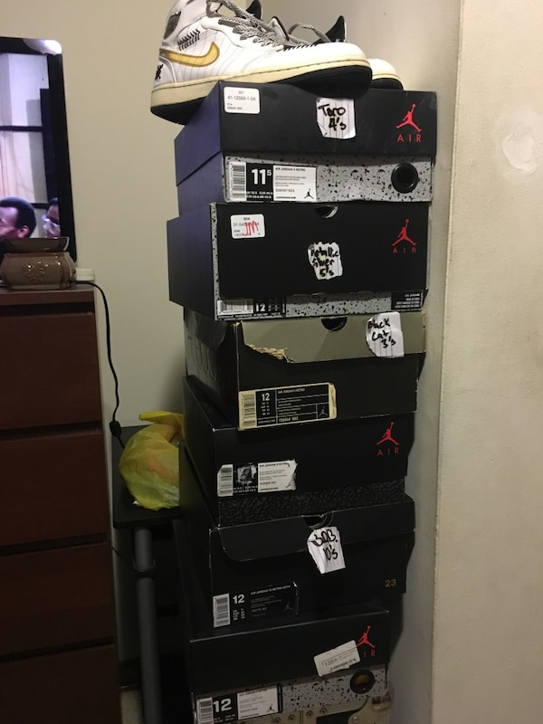 5d01b40508b Used Air Jordan shoe boxes for sale in Garfield - letgo