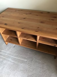 rectangular brown wooden coffee table Brantford, N3V 1E1
