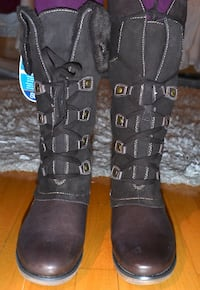 Brand new tall Leather winter boots size 9 Montreal, QC, Canada