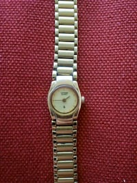 round silver-colored analog watch with link bracelet 2243 mi