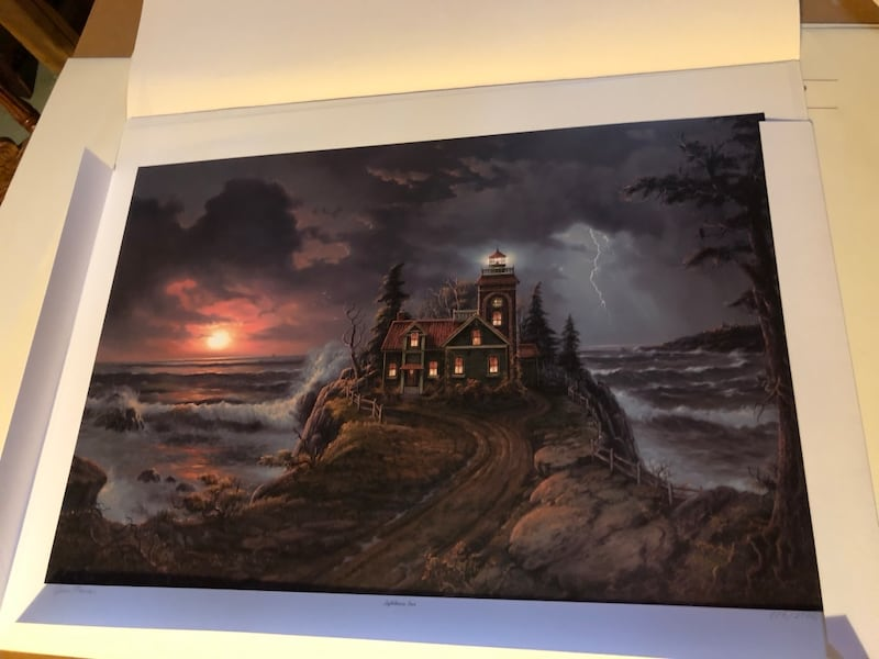 Limited Edition by Jesse Barnes - Lighthouse Cove Mint condition. 04993ee5-815f-4952-bdd4-6eda263d3abb