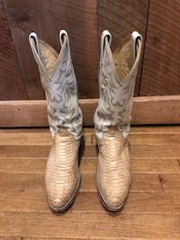 Snakeskin & Leather Boots Men's Size 9