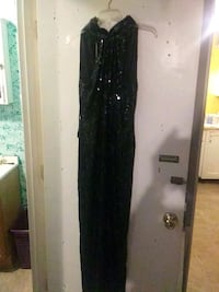 black sequin sleeveless maxi dress Charleston, 25302
