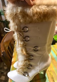 Boots w/ Fur Trim /Size 11 but fits like a 10 / $10.00/OBO