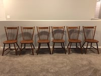 Set of 6 Tell City hard rock maple dining chairs. Florence, 85132