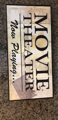 Movie Theater Wall Plaque