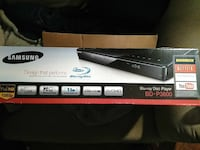 black Samsung BD-P3600 Blu-ray disc player