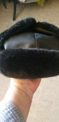 Mink Fur  with  black Leather top