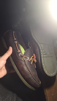 pair of brown leather boat shoes Easley, 29640