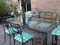 Wrought Iron Table with 6 Chairs Vaughan