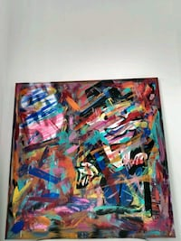 "Original Abstract "" Monopoly Vision"" 28x28 do e by artist Belair Brent Waterloo, N2T 2Z1"
