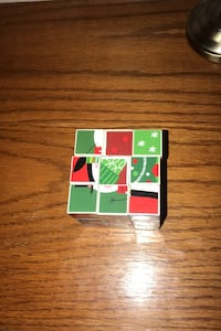 Christmas style rublix cube