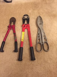 2 sets of bolt cutters and pair of tin snips Frederick, 21702