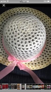 Summer Hat Never Worn Pink or Blue Ribbon  Toronto, M4A 1T7