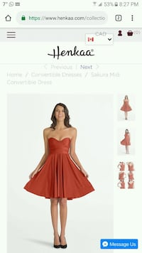 Burnt Orange Henkaa Midi Convertible Dress  Toronto, M1P 0B2