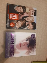 1 Direction and Justin Bieber books Toronto, M1S 3Z1