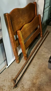 Solid Wood Single Bed with Frame