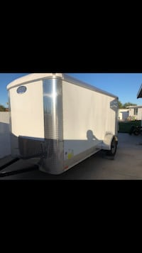 white and gray enclosed trailer Casa Grande, 85122