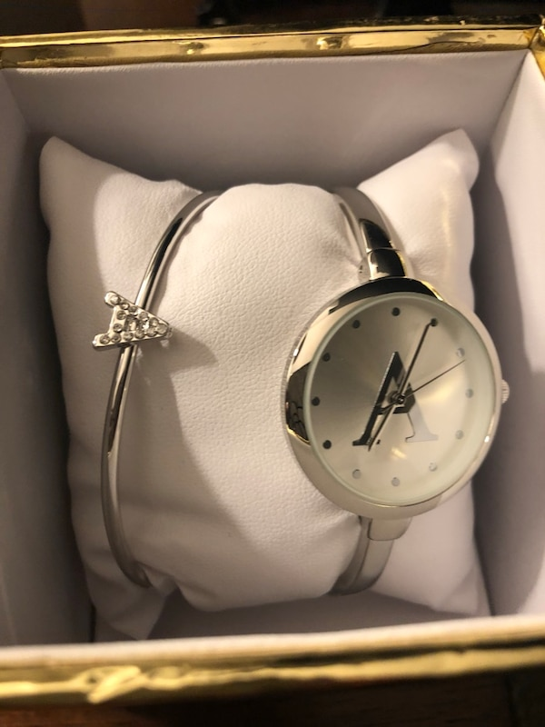 Silver A Watch With Matching Bracelet Detached