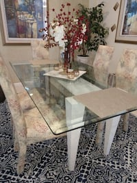 rectangular glass top table with four chairs dining set Orlando, 32828