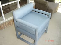 Blue padded sofa chair $40, ROCHESTER
