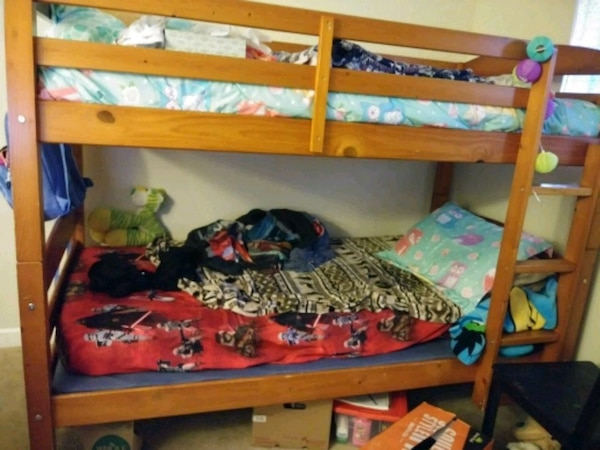 Used Wooden Bunk Bed For Sale In Hayward Letgo