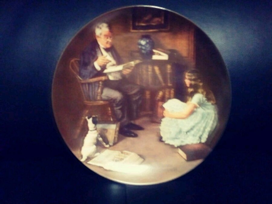 Photo Norman Rockwell vintage plate
