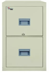 """Fireking Patriot Series 2-drawer Vertical Files - 17.7"""" X 25"""" X 27.8"""" - Gypsum, Steel - 2 X File Drawer[s] - Legal, Letter - Fire Proof, Impact Resistant, Locking Drawer, Scratch   PREOWNED  WORKS AS SHOULD MISSING KEY MSRP +$1000 Glendale, 91203"""