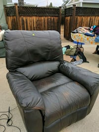 gray leather recliner sofa chair Poway