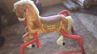 brown and red Radio Flyer spring horse Clarksville, 37043