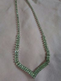 green diamond encrusted necklace Kingston