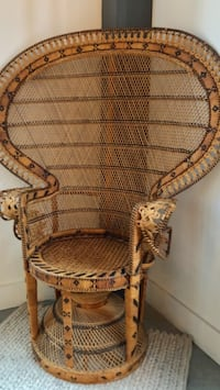 brown wicker peacock chair Indianapolis, 46220