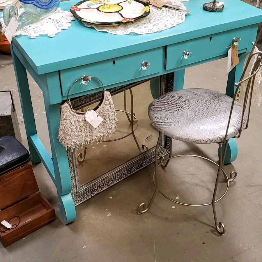 Beautiful Blue Vanity/Desk