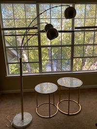 End tables/standing lamp