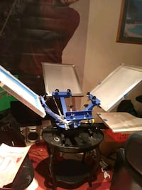 Silk screen machine etc with antique stand Silver Spring, 20903