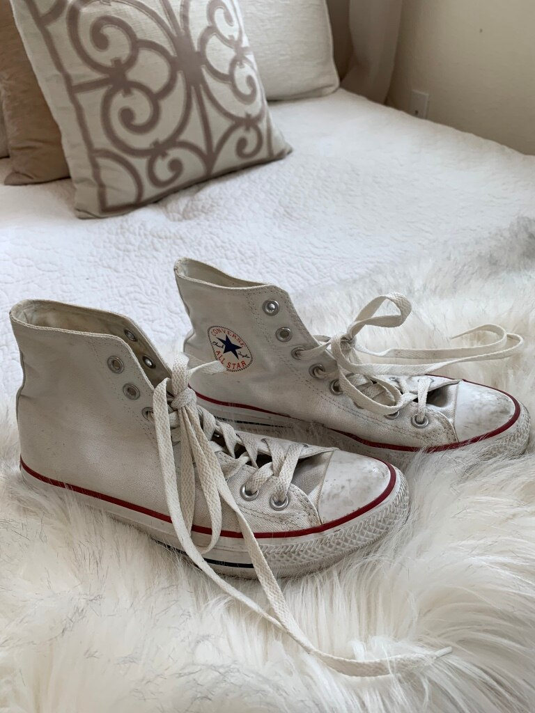 Photo High Top Converse (Womens 8.5)