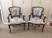 Set of Matching tapestry chairs Victoria, V8V 1E2