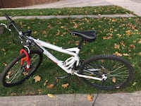 white and red hardtail bicycle 545 km