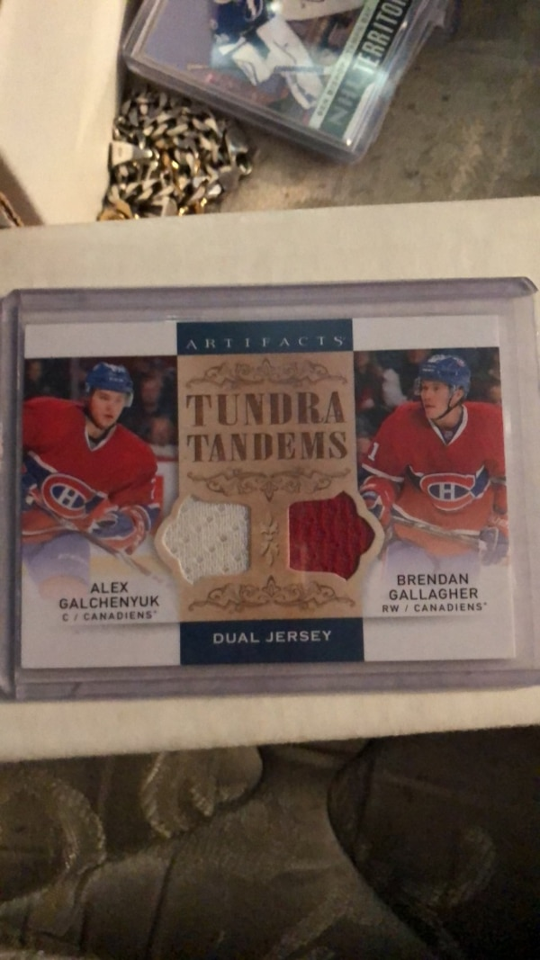 detailed look 83ab0 065c6 alex galchenyuk and brendan gallagher jersey card