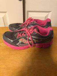 Saucony Cohesion 7, Women's Size 6.5 Running Shoes Pink Grey