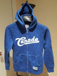 blue and white Nike pullover hoodie Dollard-des-Ormeaux