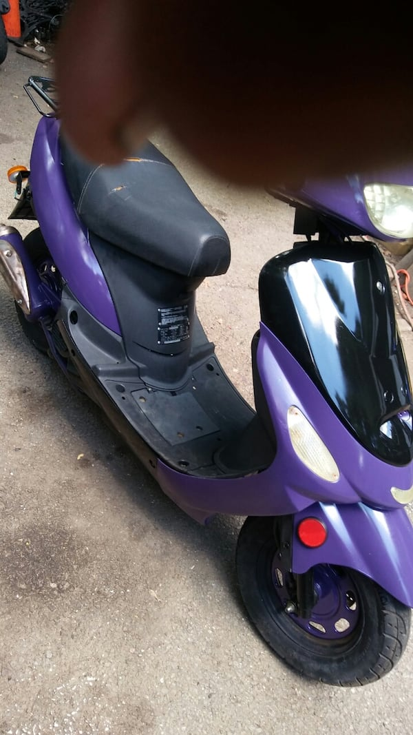 50cc Motor Scooter Purple Fast S'ooter. Just Refurbished!! Runs Great! 90c71eae-bb05-4e97-89ed-0c903d62b95b