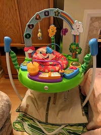 baby's green and blue Fisher-Price jumperoo Burnaby