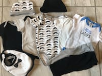 baby's white and black onesie Edinburg, 78539