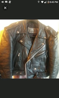 Womens Vintage black leather zip-up jacket Toronto, M5N 1C2