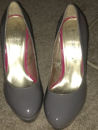 pair of gray leather pumps Herndon, 20171