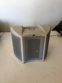 Space heater - small. Used for under an office desk to keep feet warm!